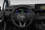 Car pictures of steering wheel view of a 2019 Toyota Corolla  Premium 4 Door Sedan