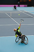 Wheelchair Tennis International competitiion at the Eton Manor arena in the London 2102 Olympic Park.