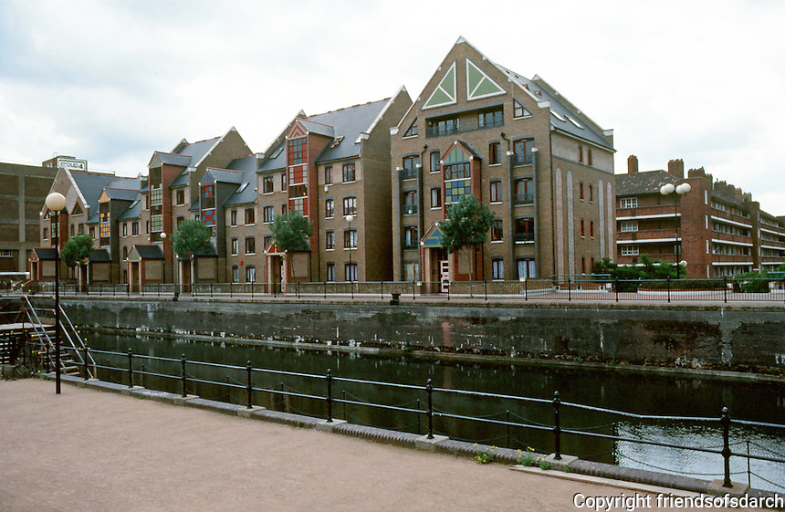 London:  Tobacco Dock, Wapping--housing.  Photo '90.
