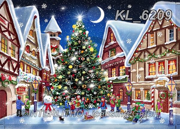 CHRISTMAS LANDSCAPES, WEIHNACHTEN WINTERLANDSCHAFTEN, NAVIDAD PAISAJES DE INVIERNO, paintings+++++,KL6209,#xl# ,puzzle,puzzles