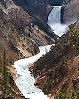 Located on the south rim of the Grand Canyon of the Yellowstone River, Artist Point is the most famous of the Grand Canyon viewpoints. Many artists have painted and photographed from this point, but it is not the point used by the most famous artist of these falls. Thomas Moran actually painted his iconic masterpiece from the north rim, just east of Lookout Point.
