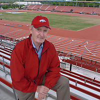 ANTHONY REYES Northwest Arkansas Times<br />Arkansas men's track coach John McDonnell has won 42 NCAA track championships while at the college. For that, the new outdoor track facility is named in his honor.