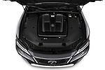 Car Stock 2021 Lexus LS 500 4 Door Sedan Engine  high angle detail view