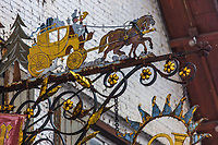 Europe/Allemagne/Bade-Würrtemberg/Forêt Noire/Klosterreichenbach: Enseigne ancien  Hôtel: Gasthof Sonne-Post