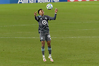 ST PAUL, MN - NOVEMBER 22: Marlon Hairston #94 of Minnesota United FC controls the ball during a game between Colorado Rapids and Minnesota United FC at Allianz Field on November 22, 2020 in St Paul, Minnesota.