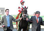 We Miss Artie and jockey John Velazquez win the Horseshoe Casino Spiral Stakes, 03-22-14, for trainer Todd Pletcher and owners Ken and Sarah Ramsey .