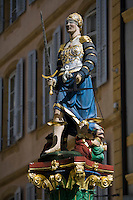 Europe/Suisse/Jura Suisse/ Neuchâtel: Détail  Statue de la Justice