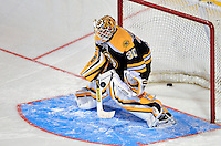 24 January 2009: Boston Bruins goaltender Tim Thomas warms up prior to the NHL SuperSkills Competition, part of the All-Star Weekend at the Bell Centre in Montreal, Quebec, Canada. ***** Editorial Sales Only ***** Mandatory Photo Credit: Ed Wolfstein Photo