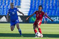 Finland's Linda Sallstrom and Spain's Leila Ouahabi during the match of  European Women's Championship 2017 at Leganes, between Spain and Finland. September 20, 2016. (ALTERPHOTOS/Rodrigo Jimenez) NORTEPHOTO
