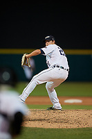 Lakeland Flying Tigers relief pitcher Burris Warner (28) during a Florida State League game against the Palm Beach Cardinals on May 22, 2019 at Publix Field at Joker Marchant Stadium in Lakeland, Florida.  Palm Beach defeated Lakeland 8-1.  (Mike Janes/Four Seam Images)