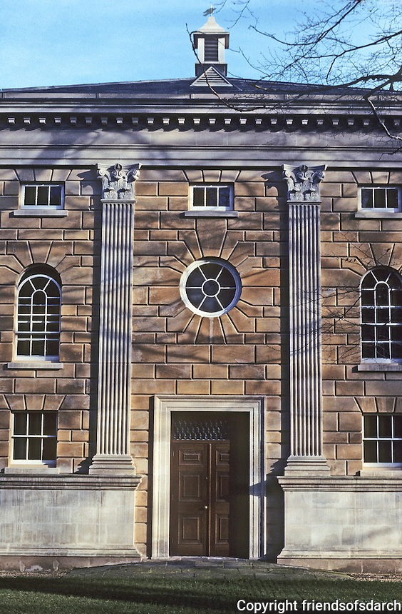 Cambridge: Downing College, Howard Building--west elevation. Photo '90.