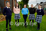 Presentation Castleisland students after doing their Maths Paper 2 on Monday, l to r: Lisa Flynn, Lauren Butler, Katie O'Connor, Maria Daly and Caoimhe Horgan.