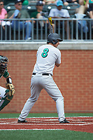 Ryne Dean (8) of the Marshall Thundering Herd at bat against the Charlotte 49ers at Hayes Stadium on April 23, 2016 in Charlotte, North Carolina. The Thundering Herd defeated the 49ers 10-5.  (Brian Westerholt/Four Seam Images)
