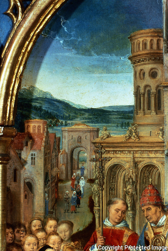Paintings:  Hans Memling--Ursula shrine.  Rome, detail.  Reference only.