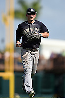 New York Yankees outfielder Tyler Austin (79) during a Spring Training game against the Pittsburgh Pirates on March 5, 2015 at McKechnie Field in Bradenton, Florida.  New York defeated Pittsburgh 2-1.  (Mike Janes/Four Seam Images)
