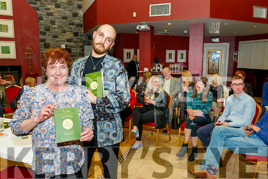 Anna O'Doherty from Tralee, launched her new book on poems last Saturday night in O'Donnell's bar, Tralee, with many attending. Also pictured with Anna is Tomám Galvin who did the illustrations on the book.