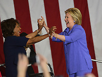 Hillary Clinton + Maxine Waters @ the Women For Hillary Organizing Event held @ West Los Angeles College.<br /> June 3, 2016