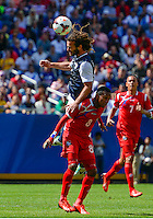Chicago, IL - Sunday July 28, 2013:   USMNT midfielder Kyle Beckerman (14) during the CONCACAF Gold Cup Finals soccer match between the USMNT and Panama, at Soldier Field in Chicago, IL.