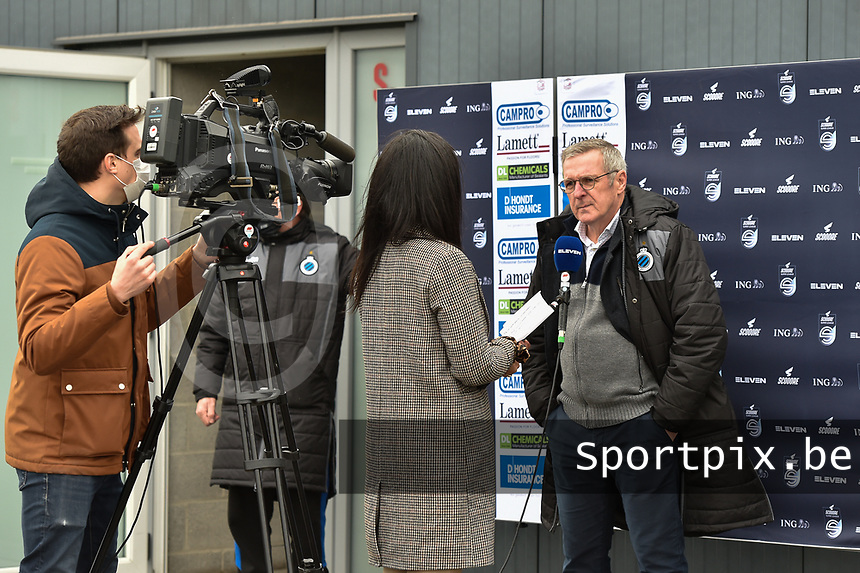 Head Coach Leo Van Der Elst of Club Brugge  pictured during an interview with Eleven Sport before a female soccer game between SV Zulte - Waregem and Club Brugge YLA on the 13 th matchday of the 2020 - 2021 season of Belgian Scooore Womens Super League , saturday 6 th of February 2021  in Zulte , Belgium . PHOTO SPORTPIX.BE | SPP | DIRK VUYLSTEKE