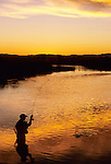 Fly fishing on the East Gallatin River, MZ Ranch, Montana