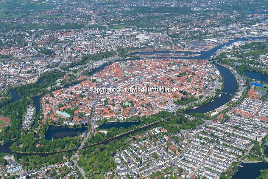Stadtzentrum von Lübeck, Stadt, Zentrum, Trave, Kirche,
