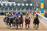 HOT SPRINGS, AR - MARCH 17: The start of the Rebel Stakes with #4 Magnum Moon with jockey L Saez leading. Stakes. Rebel Stakes at Oaklawn Park on March 17, 2018 in Hot Springs, Arkansas. (Photo by Ted McClenning/Eclipse Sportswire/Getty Images)