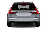Straight rear view of 2018 Volvo V90 Inscription 5 Door Wagon Rear View  stock images