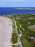 Blick vom Klippenrandweg auf Nordstrand,  Insel Helgoland, Schleswig-Holstein, Deutschland, Europa<br /> northern beach seen from Oberland, Helgoland island, district Pinneberg, Schleswig-Holstein, Germany, Europe