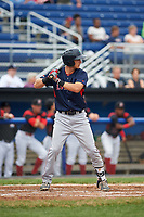 Lowell Spinners third baseman Michael Osinski (29) at bat during a game against the Batavia Muckdogs on July 12, 2017 at Dwyer Stadium in Batavia, New York.  Batavia defeated Lowell 7-2.  (Mike Janes/Four Seam Images)