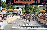 peloton led by team UAE Emirates rolling in more then 20 (!) minutes behind the stage winner<br /> <br /> Stage 19 from Mourenx to Libourne (207km)<br /> 108th Tour de France 2021 (2.UWT)<br /> <br /> ©kramon
