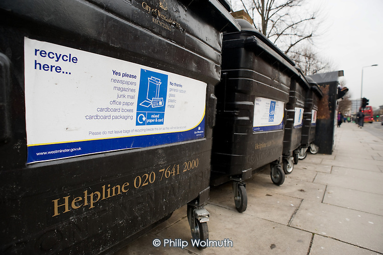 New recycling bins, Harrow Road.