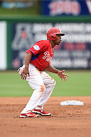 Philadelphia Phillies outfielder Ben Revere (2) during a Spring Training game against the New York Yankees on March 27, 2015 at Bright House Field in Clearwater, Florida.  New York defeated Philadelphia 10-0.  (Mike Janes/Four Seam Images)