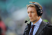 Jonny Wilkinson commentating for Sky during the Old Mutual Wealth Series match between England and Australia at Twickenham Stadium on Saturday 3rd December 2016 (Photo by Rob Munro)
