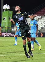 MONTERIA - COLOMBIA, 24-01-2021: Bruno Teliz de Atletico Bucaramanga en accion, durante partido entre Jaguares de Cordoba F.C., y Atletico Bucaramanga de la fecha 2 por la Liga BetPlay DIMAYOR I 2021, en el estadio Jaraguay de Monteria de la ciudad de Monteria. / Bruno Teliz of Atletico Bucaramanga in actions, during a match between Jaguares de Cordoba F.C., and Atletico Bucaramanga, of the 2nd date for the BetPlay DIMAYOR I 2021 League at Jaraguay de Monteria Stadium in Monteria city. Photo: VizzorImage / Andres Lopez / Cont.
