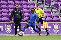 Orlando, Florida - Saturday January 13, 2018: Edward Opoku. Match Day 1 of the 2018 adidas MLS Player Combine was held Orlando City Stadium.