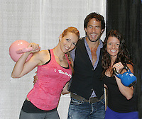 09-22-12 Shawn Christian with Kettlebell girls &  fans Connecticut Women's Expo - WWE Eve & David