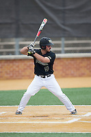 Joey Rodriguez (8) of the Wake Forest Demon Deacons at bat against the Clemson Tigers at David F. Couch Ballpark on March 12, 2016 in Winston-Salem, North Carolina.  The Tigers defeated the Demon Deacons 6-5.  (Brian Westerholt/Four Seam Images)
