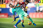 Luis Suarez of FC Barcelona battles for the ball with Stefan Savic of Atletico de Madrid in action during their La Liga match between Atletico de Madrid and FC Barcelona at the Santiago Bernabeu Stadium on 26 February 2017 in Madrid, Spain. Photo by Diego Gonzalez Souto / Power Sport Images