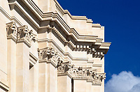 The National Gallery and Sainsbury wing extension, Trafalgar Square, London.