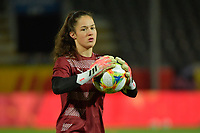 Swiss goalkeeper Livia Peng  pictured during a female soccer game between the national teams of Belgium , called the Red Flames and Switzerland on the 8 th and last matchday in group H for the qualification for the Womens EURO 2022 in England , on Tuesday 1 th of December 2020  in Leuven , Belgium . PHOTO SPORTPIX.BE   SPP   DIRK VUYLSTEKE