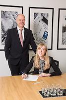Senior Partner Andy Matthews (left) with Charlotte Chapman from Gateley plc Nottingham
