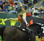 7 October 2010: Mary Mccormick (USA) competes during Vaulting in the World Equestrian Games in Lexington, Kentucky