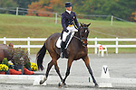 Jan Byyny (USA)  aboard Inmidair competing in dressage during day one  Fair Hill International in Fair Hill, MD  on 10/14/11.  (Ryan Lasek / Eclipse Sportwire)