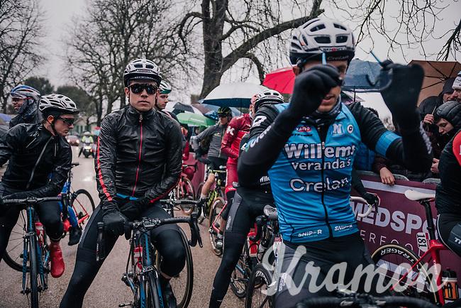 Cyclocross world champion & Strade debutant Wout Van Aert (BEL/Veranda's Willems-Crelan) at the start line<br /> <br /> 12th Strade Bianche 2018<br /> Siena > Siena: 184km (ITALY)