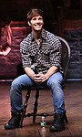 """Thayne Jasperson during the Q & A before The Rockefeller Foundation and The Gilder Lehrman Institute of American History sponsored High School student #EduHam matinee performance of """"Hamilton"""" at the Richard Rodgers Theatre on 5/22/2019 in New York City."""