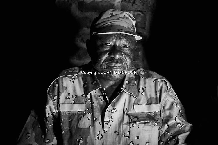 The Sudan People's Liberation Army (SPLA) leader in South Kordofan, Abdul Aziz Adam Al-Hilu, is seen after an exclusive interview with Al Jazeera English at an undisclosed location in South Kordofan, 5 July 2011. (John D McHugh)