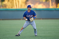 AZL Rangers shortstop Cody Freeman (33) during an Arizona League game against the AZL Dodgers Mota at Camelback Ranch on June 18, 2019 in Glendale, Arizona. AZL Dodgers Mota defeated AZL Rangers 13-4. (Zachary Lucy/Four Seam Images)