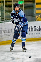30 November 2018: University of Maine Black Bear Defender Ebba Strandberg, a Junior from Kalmar, Sweden, in second period action against the University of Vermont Catamounts at Gutterson Fieldhouse in Burlington, Vermont. The Lady Bears defeated the Lady Cats 2-1 in the first game of their 2-game Hockey East series. Mandatory Credit: Ed Wolfstein Photo *** RAW (NEF) Image File Available ***