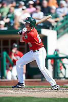 Fort Wayne TinCaps outfielder Travis Jankowski #17 during a Midwest League game against the Dayton Dragons at Parkview Field on August 19, 2012 in Fort Wayne, Indiana.  Dayton defeated Fort Wayne 5-1.  (Mike Janes/Four Seam Images)
