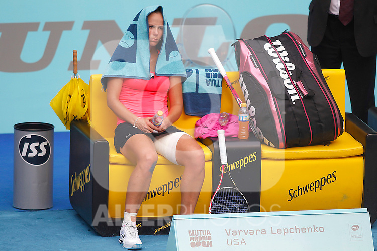 Varvara Lepchenko during Madrid Open Tennis 2012 Match.May, 11, 2012(ALTERPHOTOS/ALFAQUI/Acero)
